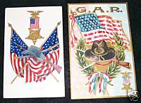 Vintage GAR Decoration Day Embossed Postcard PC Lot
